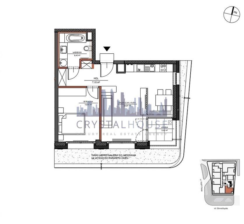 Mieszkanie dwupokojowe na sprzedaż Warszawa, Śródmieście, Górnośląska  50m2 Foto 9