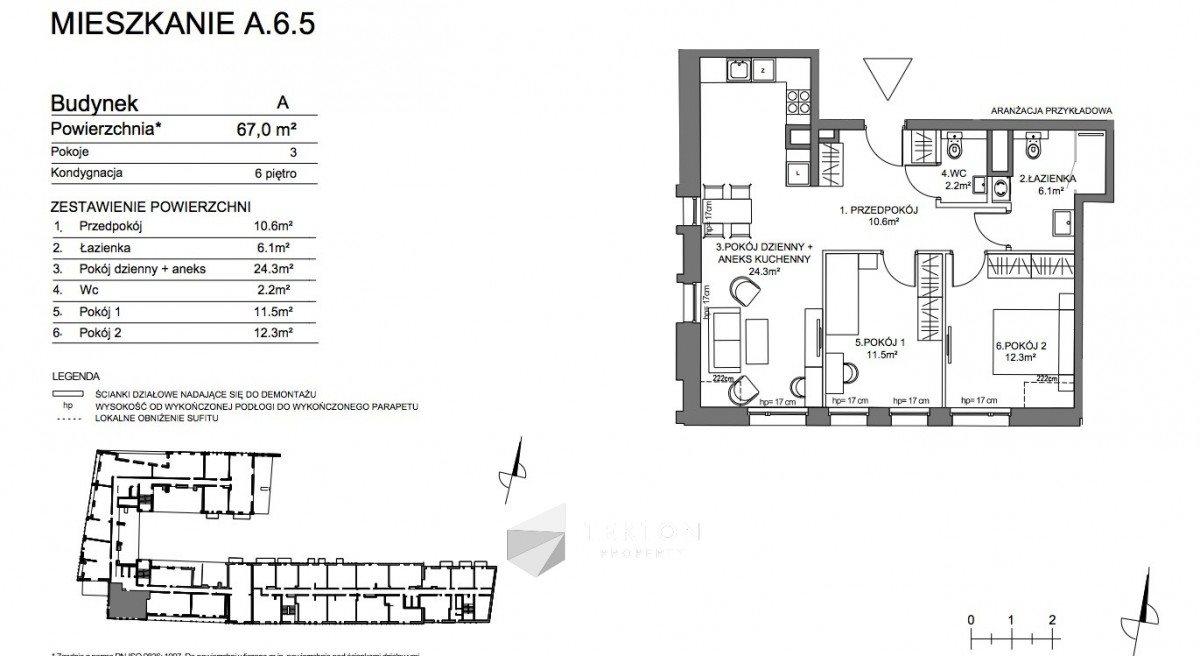 Mieszkanie trzypokojowe na sprzedaż Gdańsk, Śródmieście, Pszenna  67m2 Foto 5