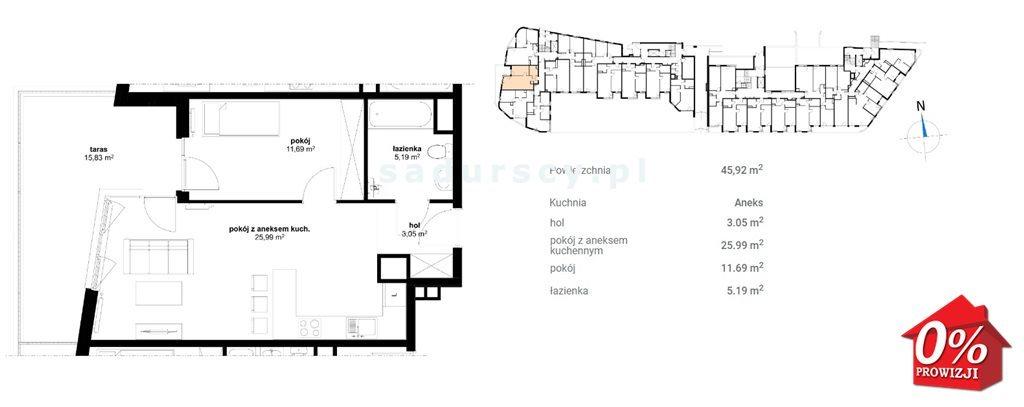 Mieszkanie dwupokojowe na sprzedaż Kraków, Prądnik Czerwony, Olsza, Lublańska - okolice  47m2 Foto 5