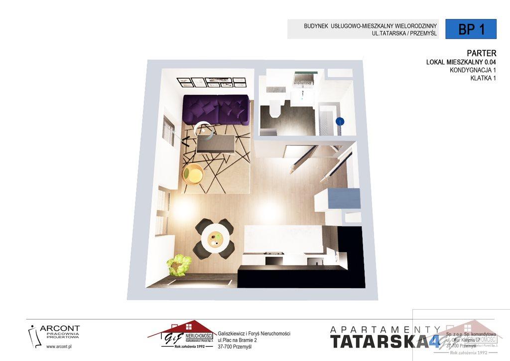 Kawalerka na sprzedaż Przemyśl, Tatarska  27m2 Foto 3