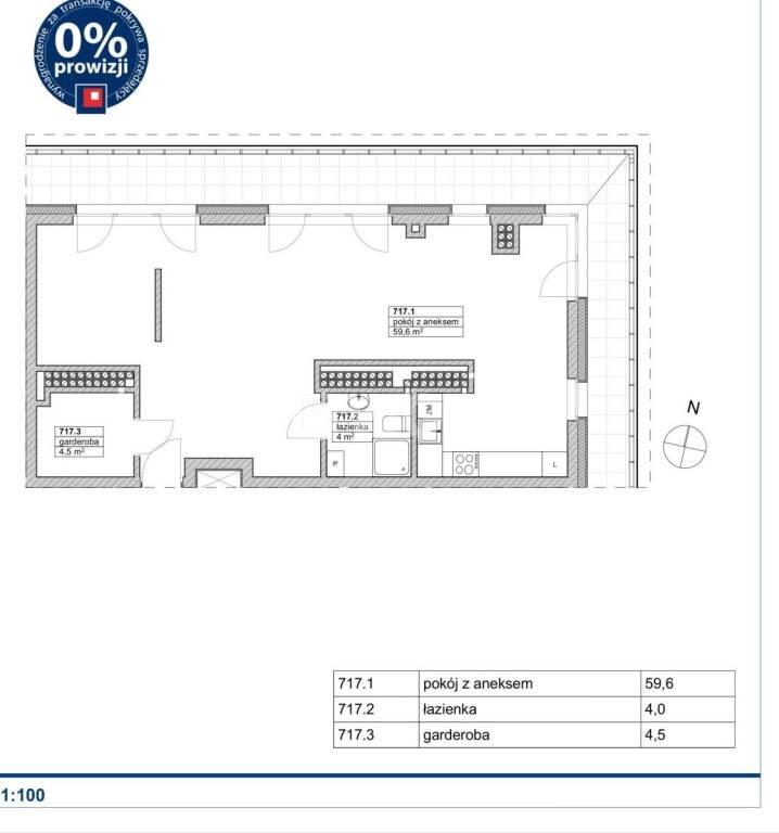 Mieszkanie trzypokojowe na sprzedaż Szczecin, Gumieńce, Gumieńce  68m2 Foto 1