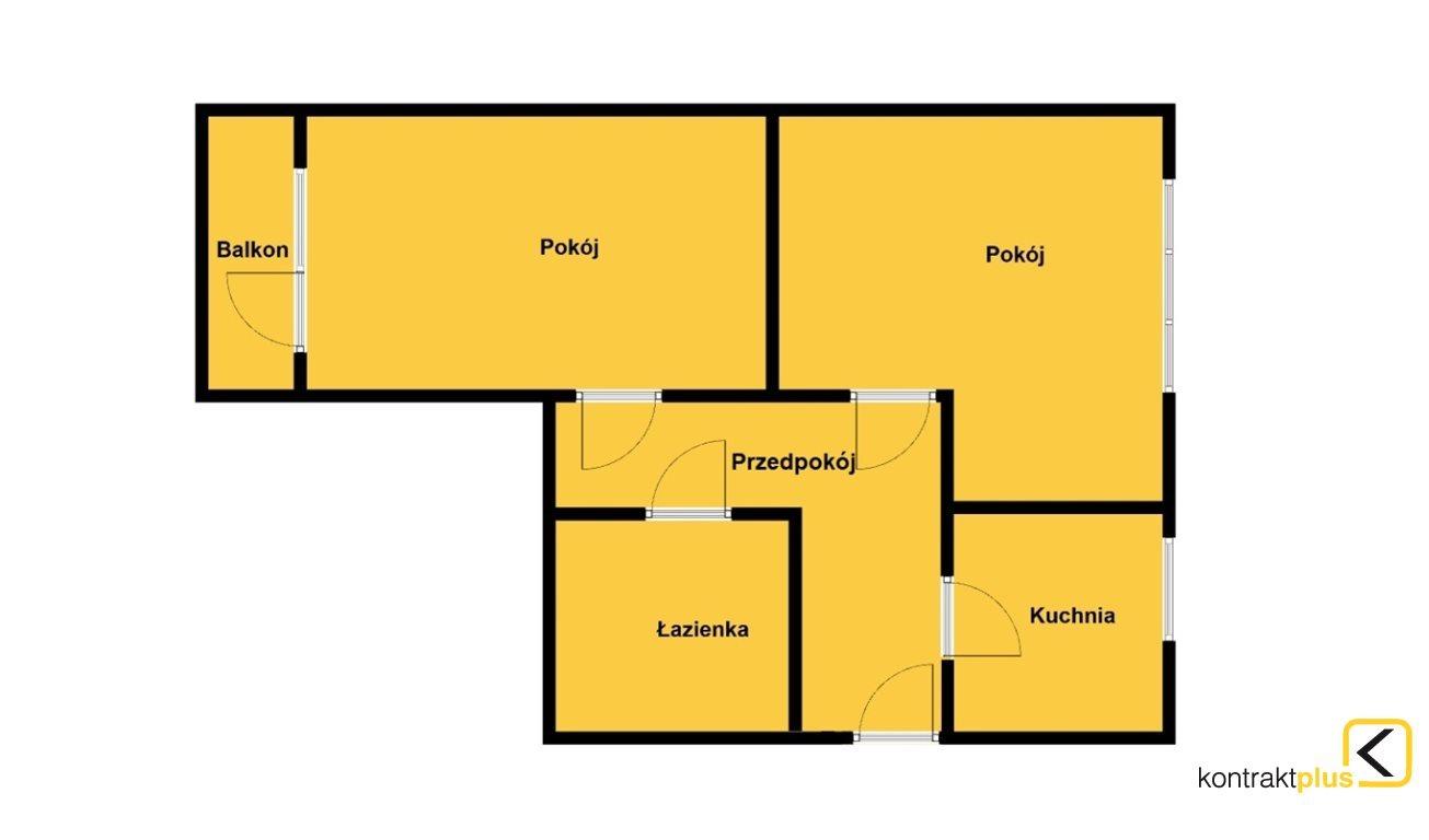 Mieszkanie dwupokojowe na sprzedaż Ruda Śląska, Nowy Bytom, Szymały  45m2 Foto 3