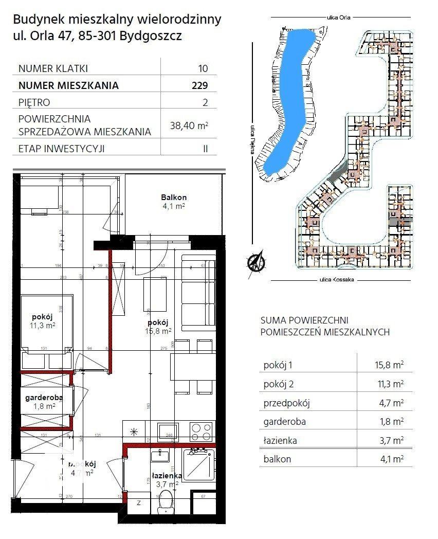 Mieszkanie dwupokojowe na sprzedaż Bydgoszcz, Szwederowo, Piękna  38m2 Foto 10