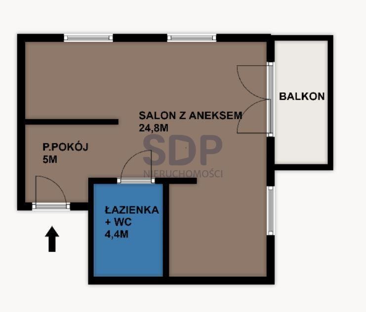 Mieszkanie dwupokojowe na sprzedaż Wrocław, Psie Pole, Swojczyce, Bacciarellego  34m2 Foto 7