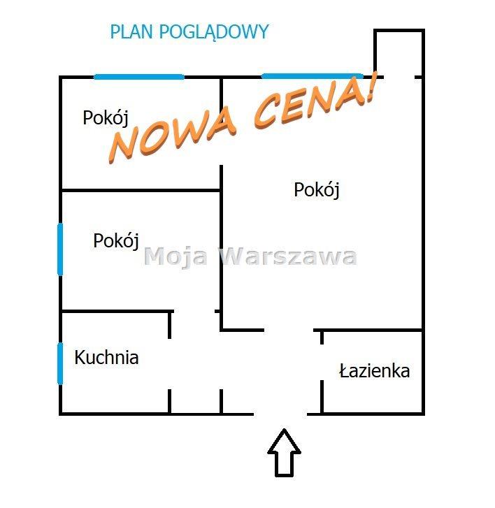 Mieszkanie trzypokojowe na sprzedaż Warszawa, Wola, Ulrychów, Wieluńska  49m2 Foto 10