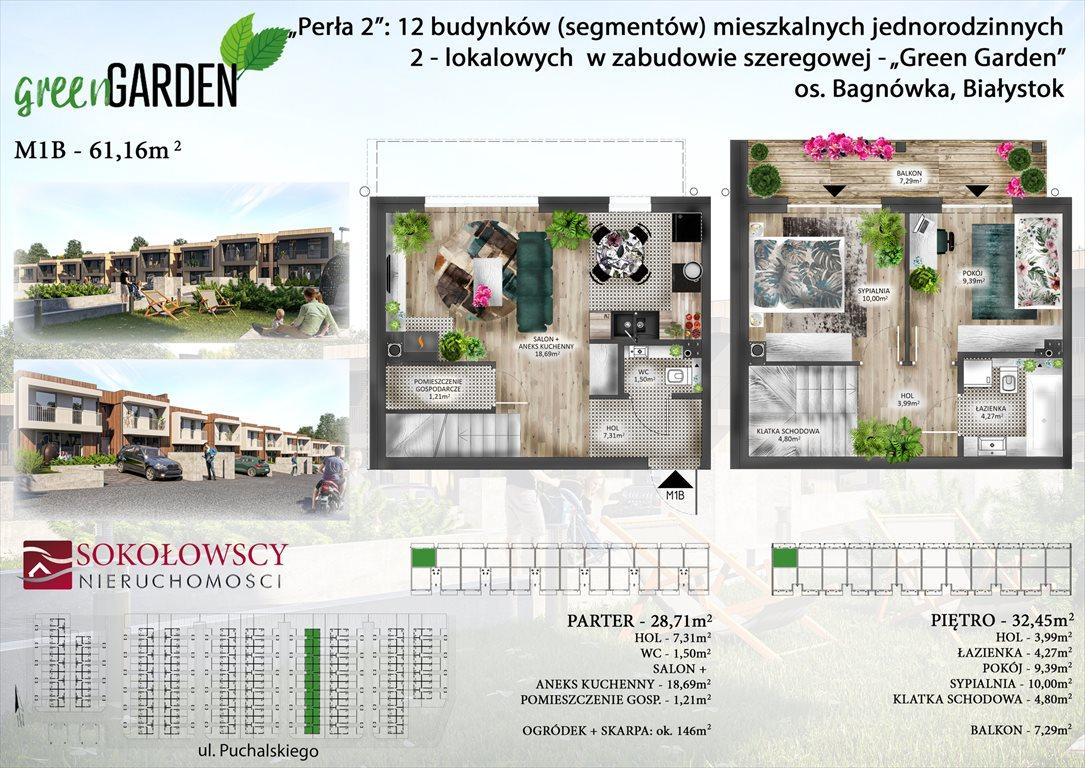 Mieszkanie trzypokojowe na sprzedaż Białystok, Bagnówka, ul. Józefa Karola Puchalskiego  61m2 Foto 1