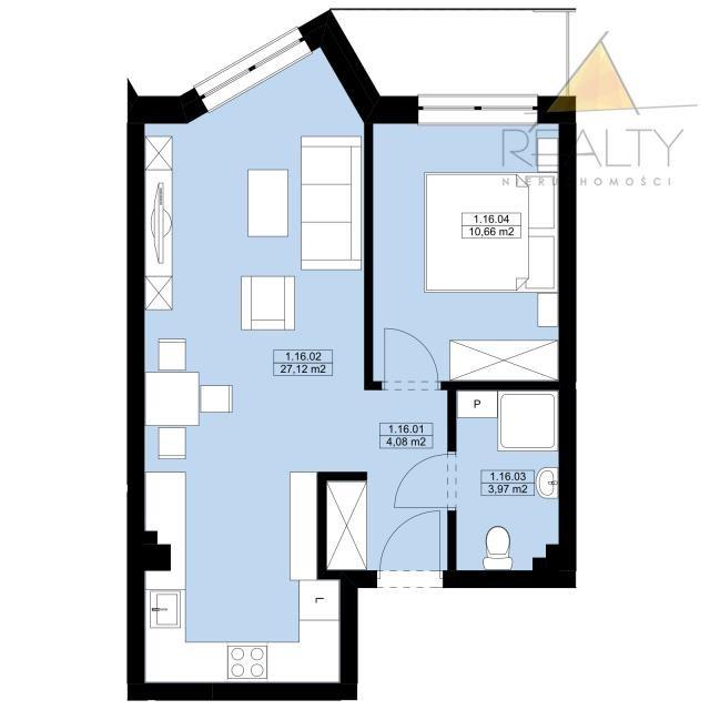 Mieszkanie dwupokojowe na sprzedaż Leszno, Sobieskiego  46m2 Foto 2