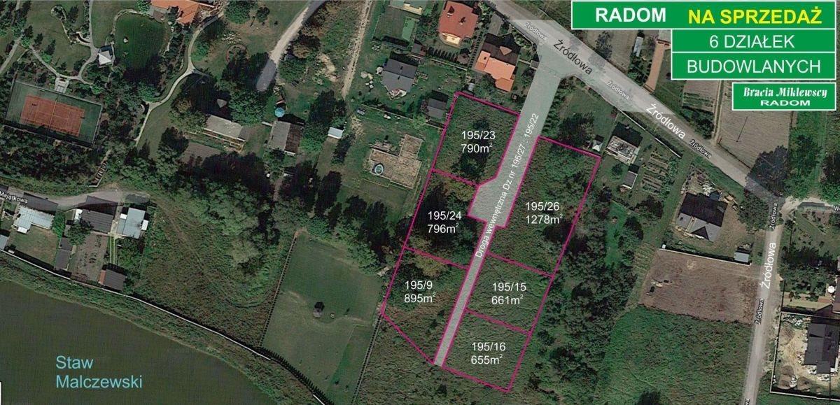 Działka budowlana na sprzedaż Radom, Malczew, Źródłowa  1278m2 Foto 4