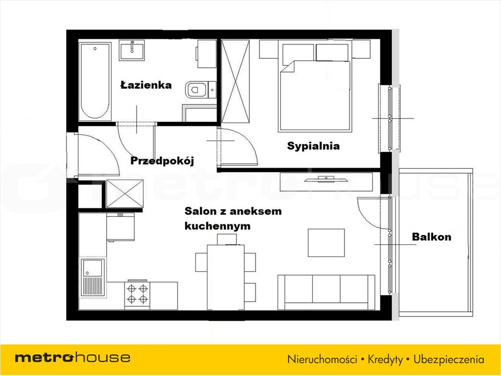 Mieszkanie dwupokojowe na sprzedaż Katowice, Piotrowice  36m2 Foto 3