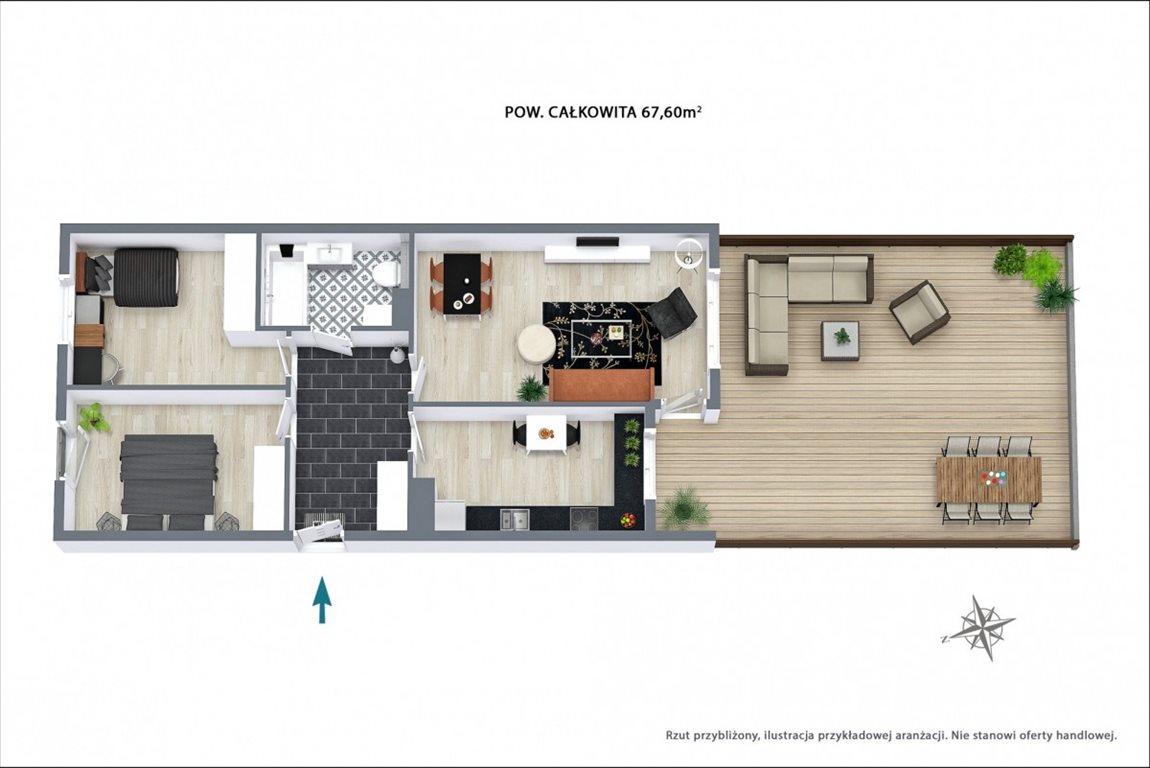 Mieszkanie trzypokojowe na sprzedaż Wrocław, Psie Pole, Adama Jerzego Czartoryskiego  68m2 Foto 12