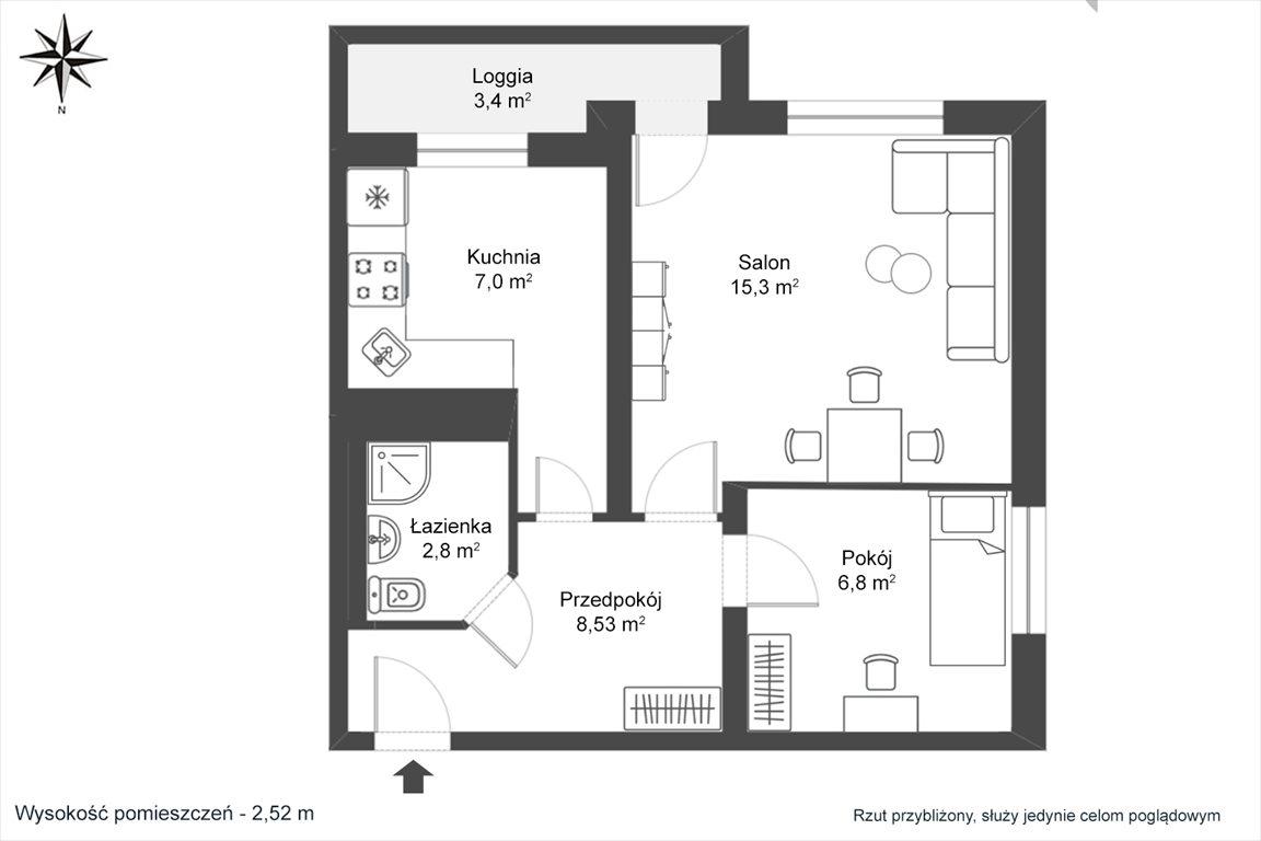 Mieszkanie dwupokojowe na sprzedaż Warszawa, Mokotów, Wierzbno, Woronicza  40m2 Foto 2