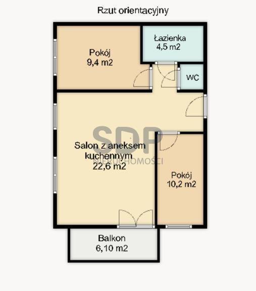Mieszkanie trzypokojowe na sprzedaż Wrocław, Krzyki, Księże Małe, Księska  57m2 Foto 4