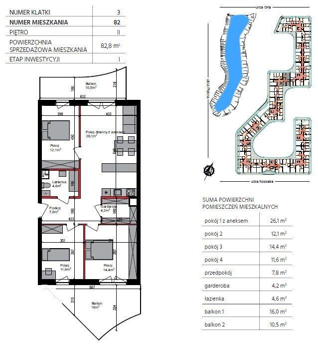 Mieszkanie trzypokojowe na sprzedaż Bydgoszcz, Szwederowo, Piękna  83m2 Foto 1