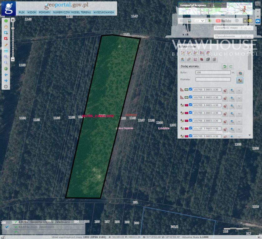 Działka leśna na sprzedaż Czernice  34700m2 Foto 13