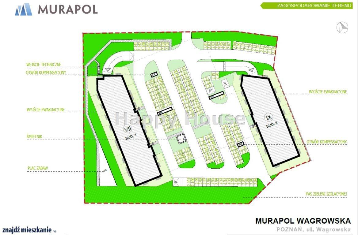 Mieszkanie czteropokojowe  na sprzedaż Poznań, Wagrowska  55m2 Foto 2