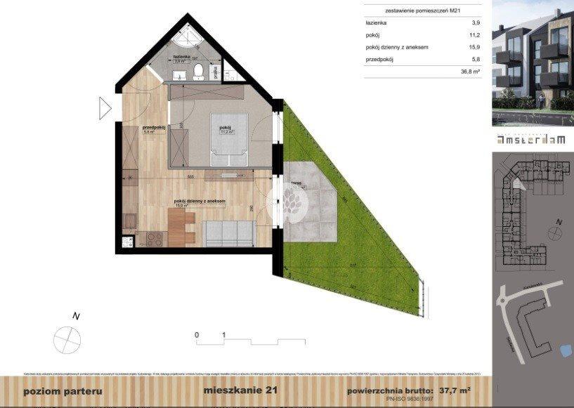 Mieszkanie dwupokojowe na sprzedaż Bydgoszcz, Siedlecka  38m2 Foto 1