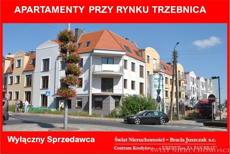 Mieszkanie trzypokojowe na sprzedaż Trzebnica  63m2 Foto 1