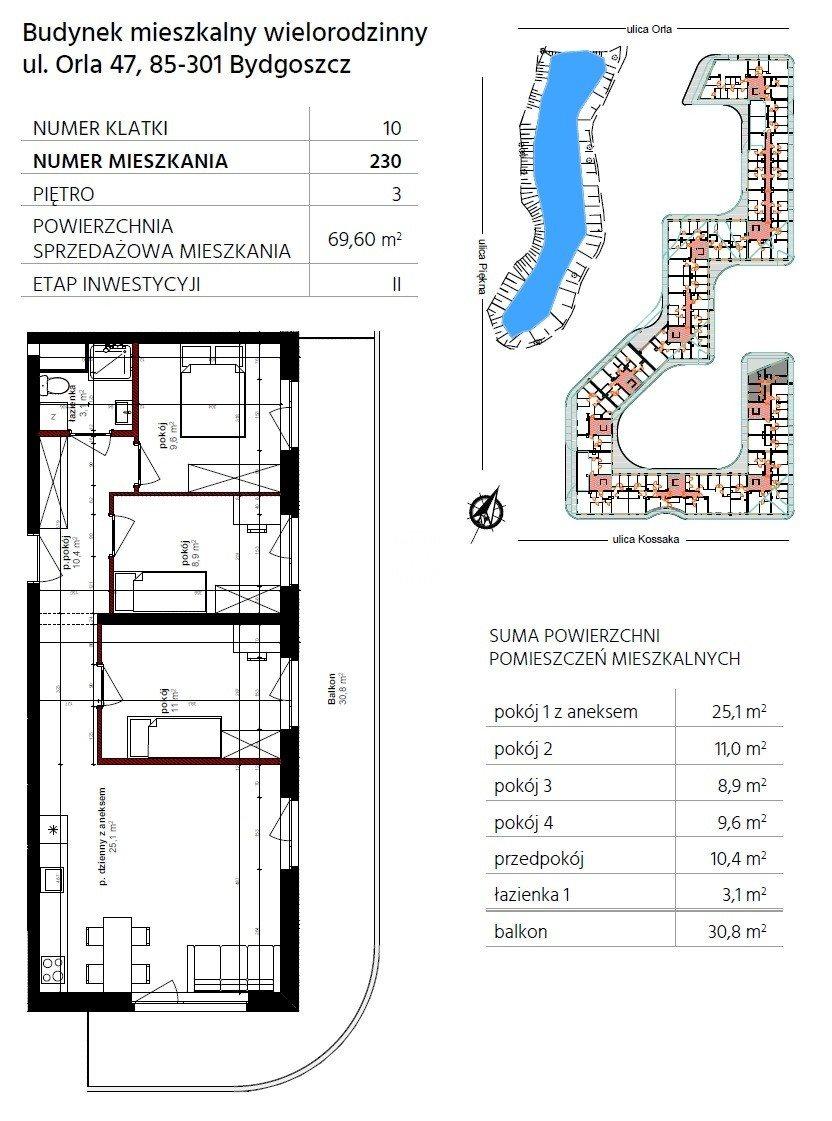 Mieszkanie czteropokojowe  na sprzedaż Bydgoszcz, Szwederowo, Piękna  70m2 Foto 10