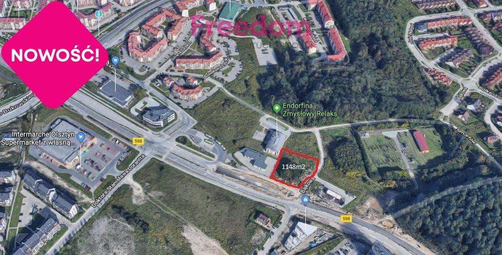 Działka komercyjna pod dzierżawę Olsztyn, Jaroty, Jarocka  1148m2 Foto 1