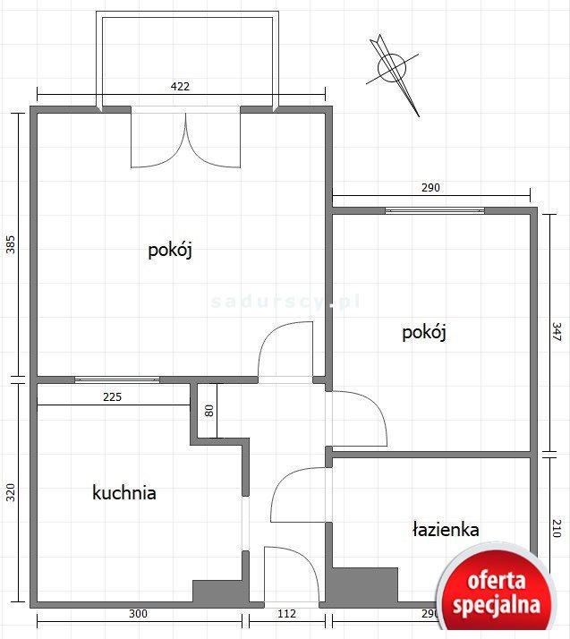Mieszkanie dwupokojowe na sprzedaż Kraków, Dębniki, Ruczaj, Obozowa  47m2 Foto 3