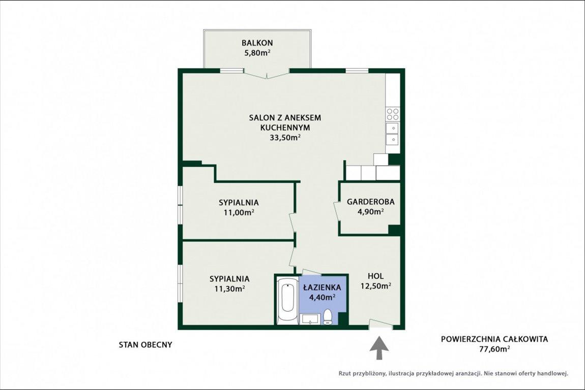 Mieszkanie trzypokojowe na sprzedaż Ząbki, Podleśna  77m2 Foto 9