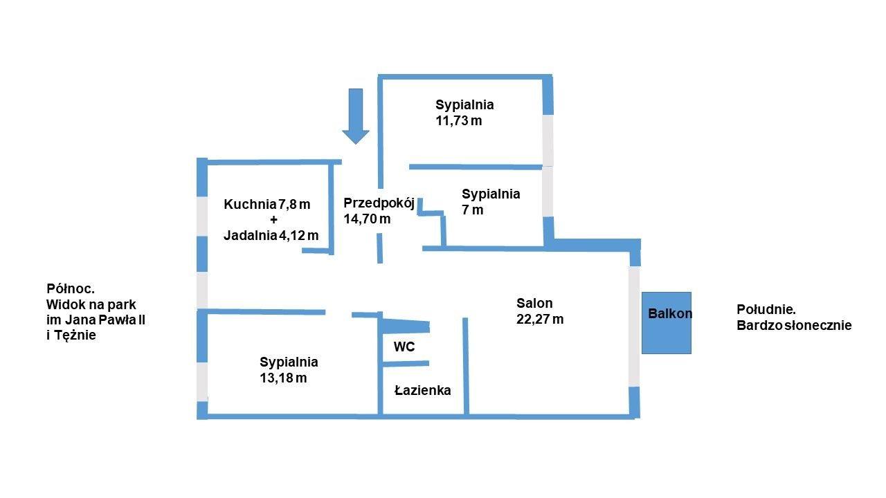 Mieszkanie czteropokojowe  na sprzedaż Warszawa, Ursynów, Ursynów północny, Oskara Sosnowskiego 4  85m2 Foto 10