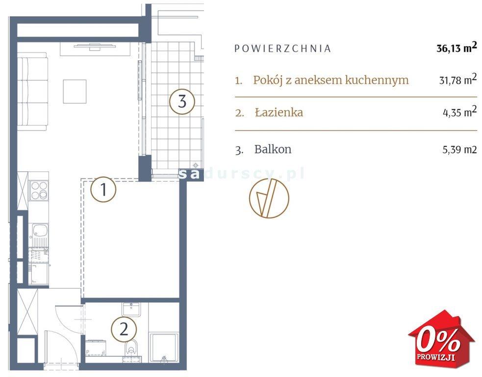 Kawalerka na sprzedaż Kraków, Stare Miasto, Kleparz, Sławkowska - okolice  36m2 Foto 3