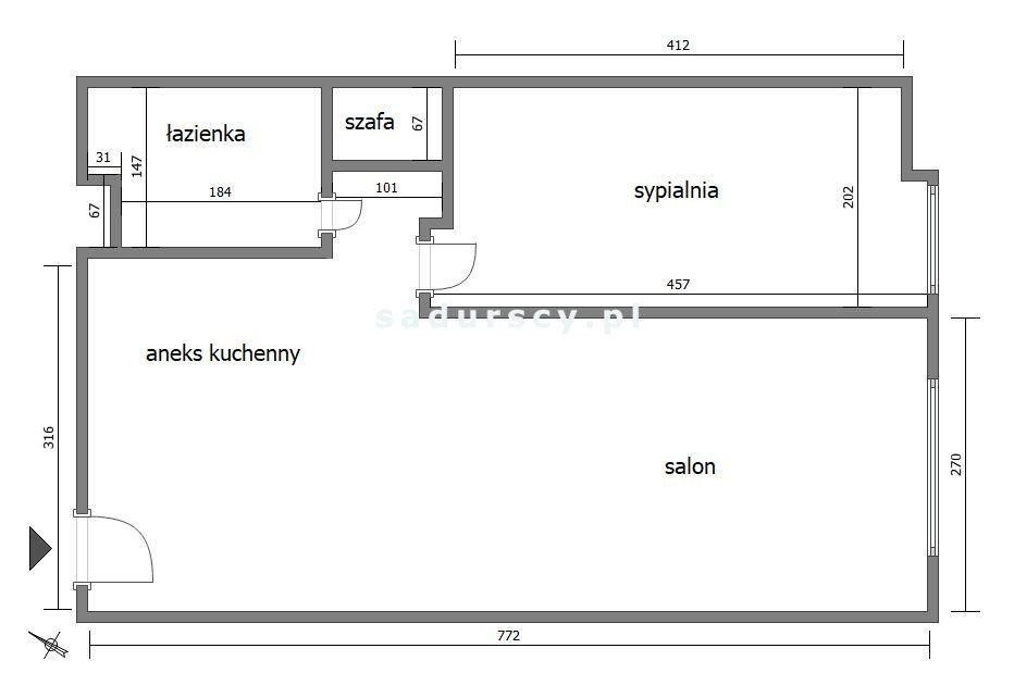 Mieszkanie dwupokojowe na sprzedaż Kraków, Bieńczyce, Bieńczyce, os. Kazimierzowskie  38m2 Foto 3