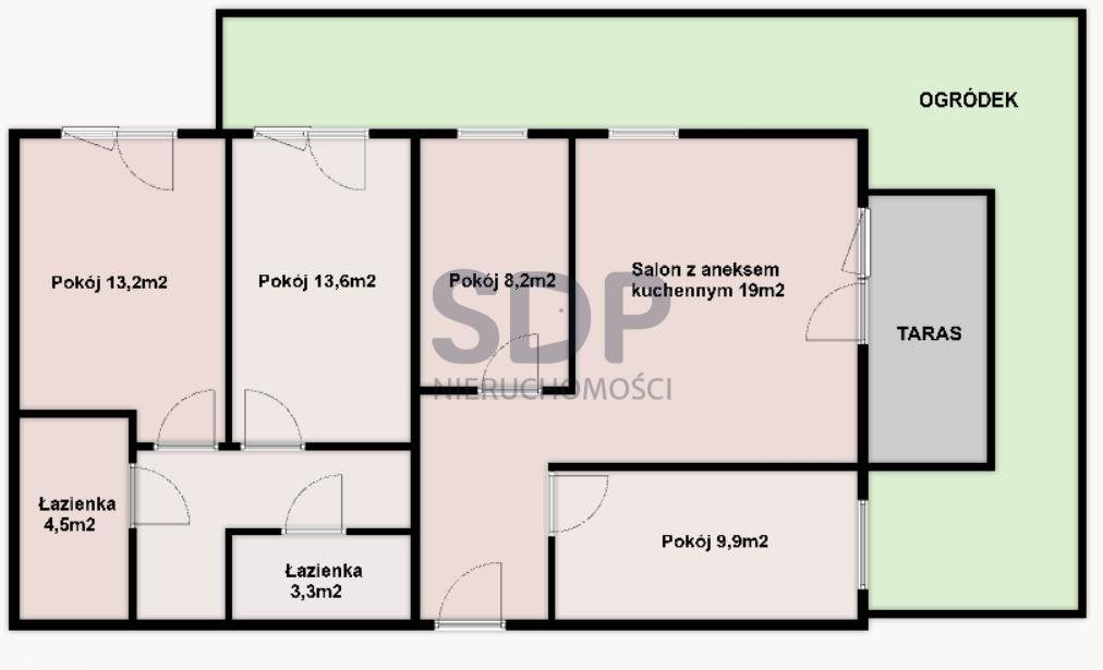 Mieszkanie na sprzedaż Wrocław, Krzyki, Księże Małe, Księska  86m2 Foto 2