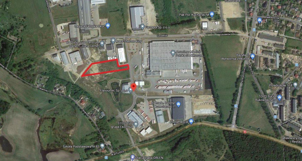 Działka przemysłowo-handlowa pod dzierżawę Gdańsk, Kokoszki, Geodetów  4209m2 Foto 2