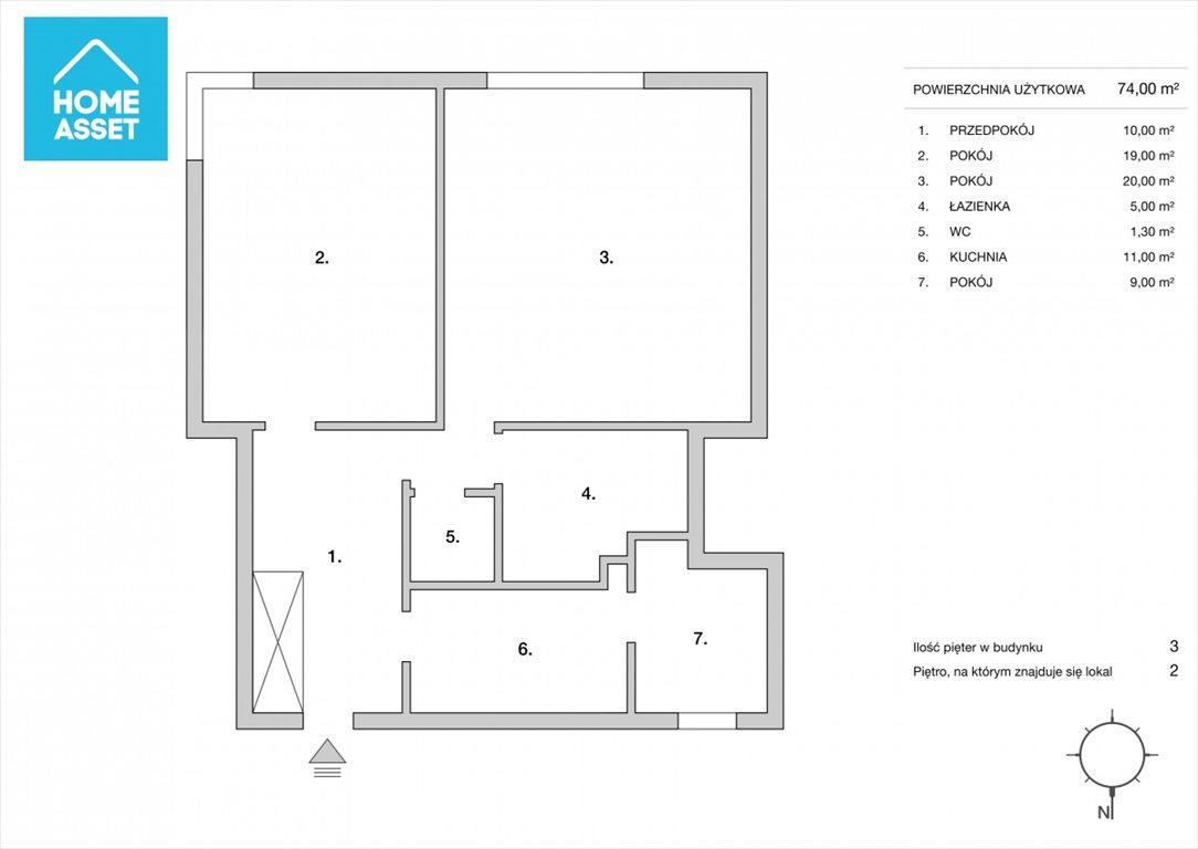 Mieszkanie trzypokojowe na sprzedaż Gdynia, Śródmieście, Bernarda Chrzanowskiego  74m2 Foto 3