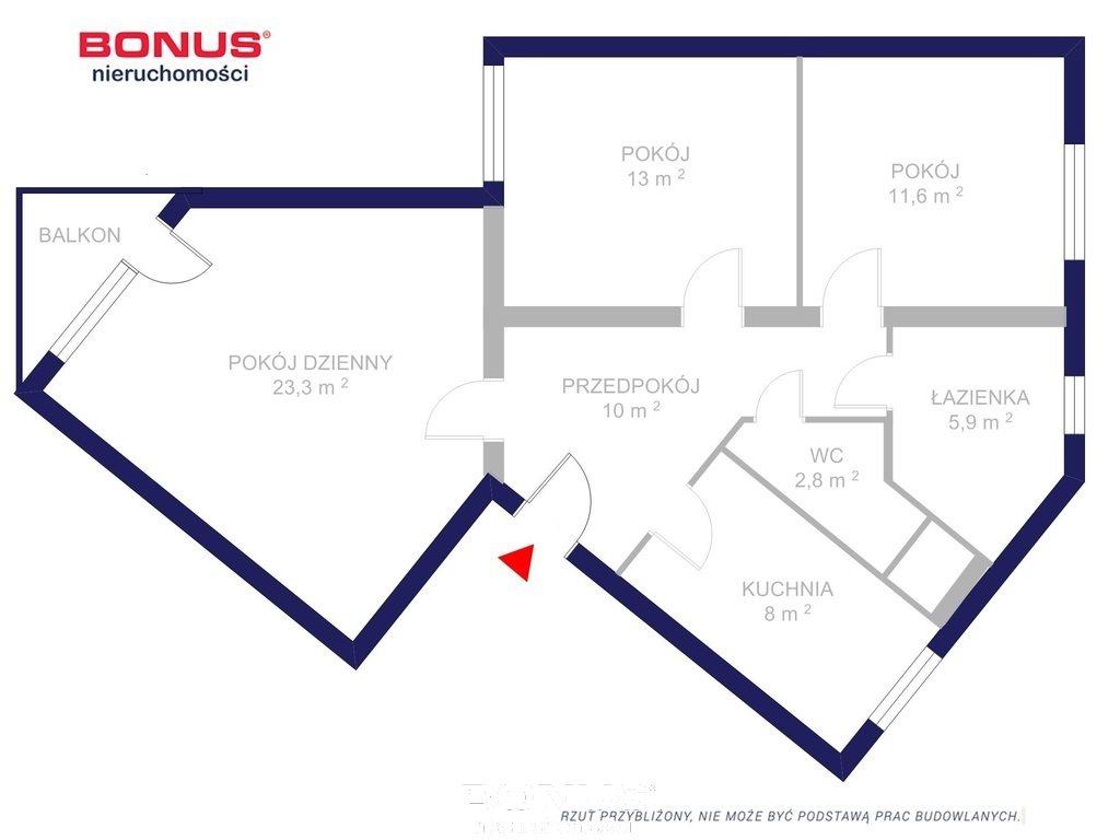 Mieszkanie trzypokojowe na sprzedaż Poznań, Jeżyce, Jeżycka  74m2 Foto 12
