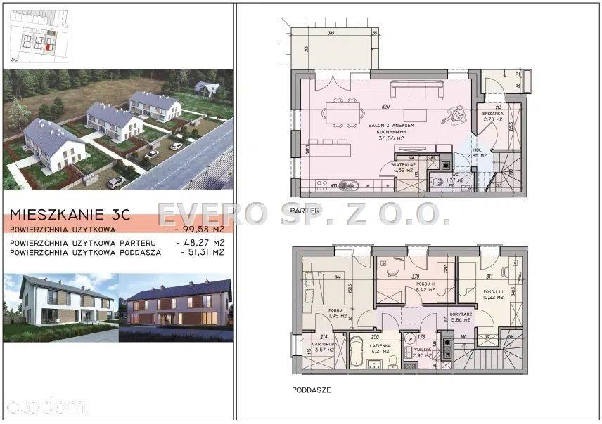 Mieszkanie czteropokojowe  na sprzedaż Wilczyce  100m2 Foto 4