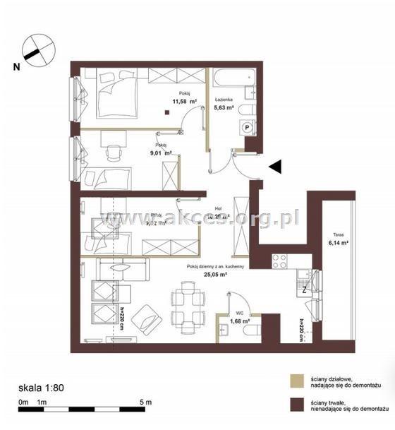 Mieszkanie czteropokojowe  na sprzedaż Bukowy Dworek  72m2 Foto 2