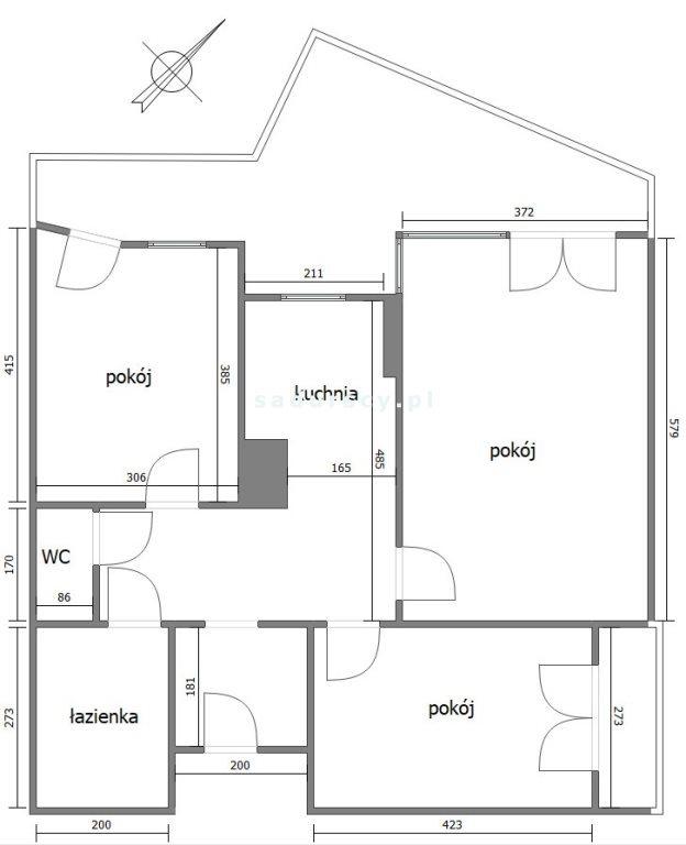 Mieszkanie trzypokojowe na sprzedaż Kraków, Krowodrza, Łobzów, al. Kijowska  71m2 Foto 3