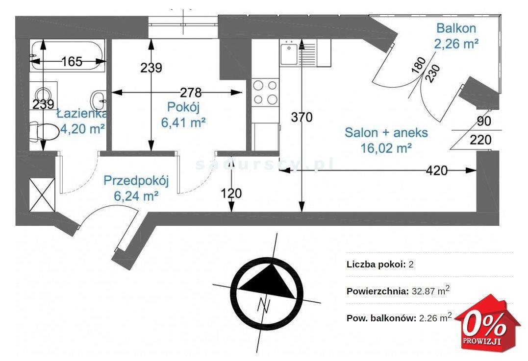 Mieszkanie dwupokojowe na sprzedaż Kraków, Podgórze, Zabłocie, Nowohucka  33m2 Foto 3