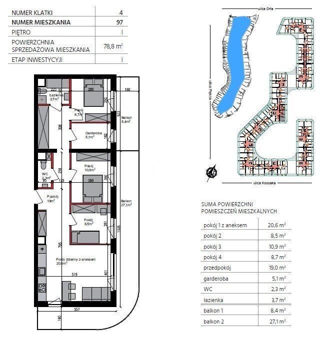 Mieszkanie czteropokojowe  na sprzedaż Bydgoszcz, Szwederowo, Piękna  79m2 Foto 1