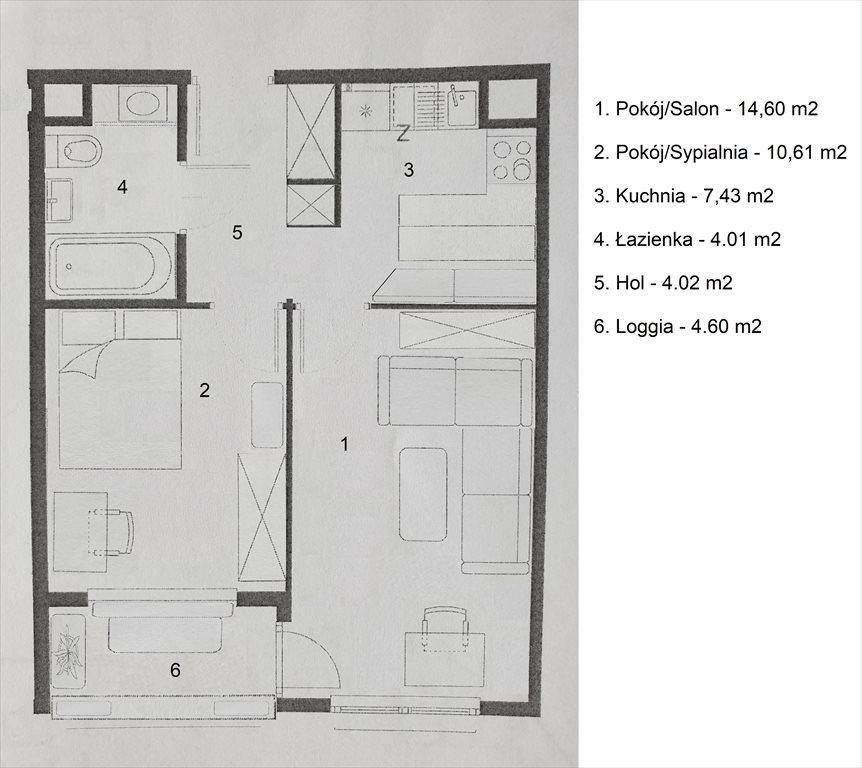 Mieszkanie dwupokojowe na sprzedaż Kraków, Prądnik Biały, Banacha 37  41m2 Foto 13