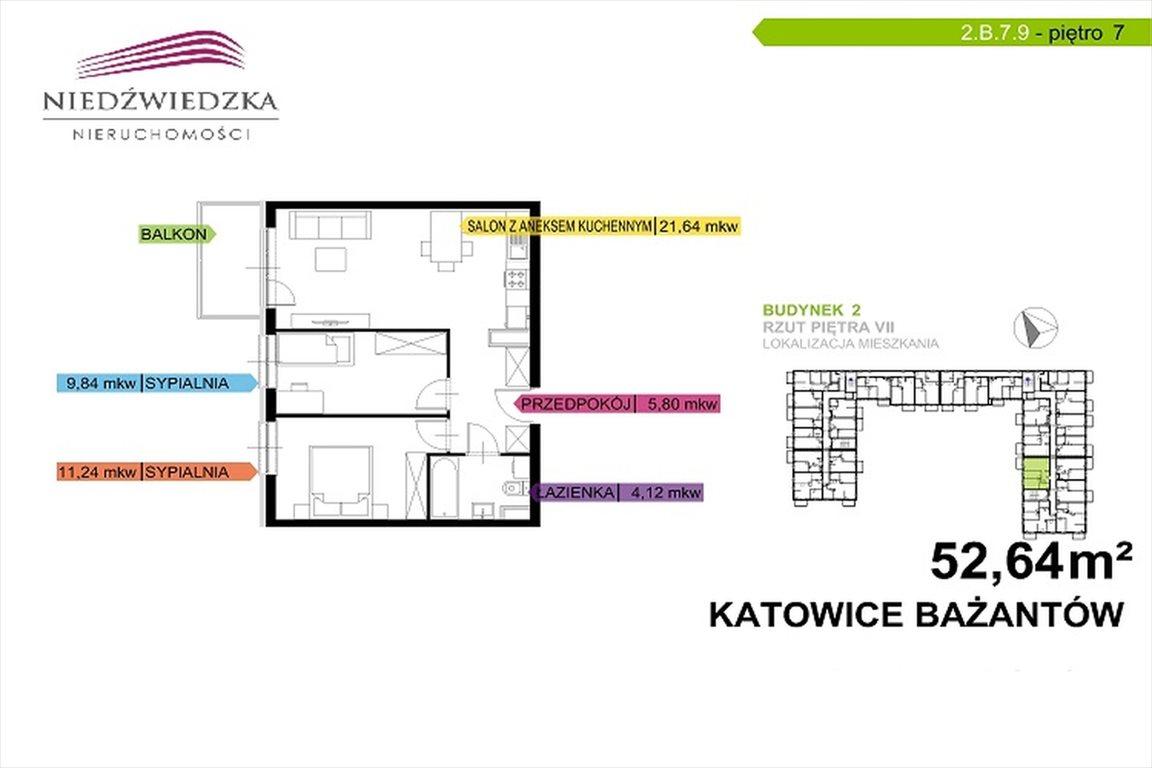 Mieszkanie trzypokojowe na sprzedaż Katowice, Piotrowice, Bażantów  5264m2 Foto 10