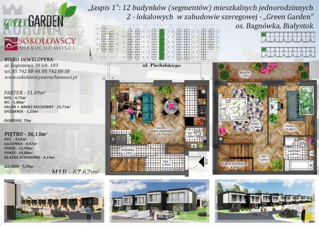 Mieszkanie trzypokojowe na sprzedaż Białystok, Bagnówka  67m2 Foto 5