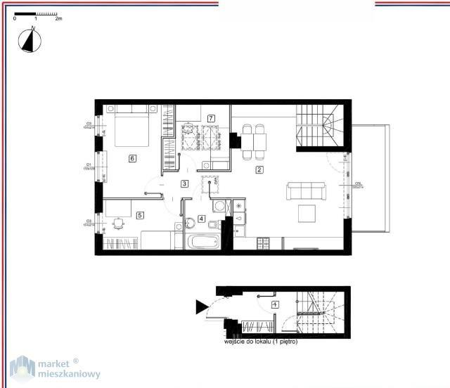 Mieszkanie czteropokojowe  na sprzedaż Marki, Wesoła  83m2 Foto 3