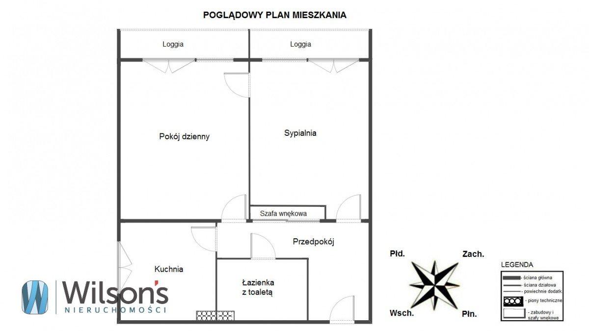 Mieszkanie dwupokojowe na wynajem Warszawa, Żoliborz Stary Żoliborz, ks. Jerzego Popiełuszki  54m2 Foto 2