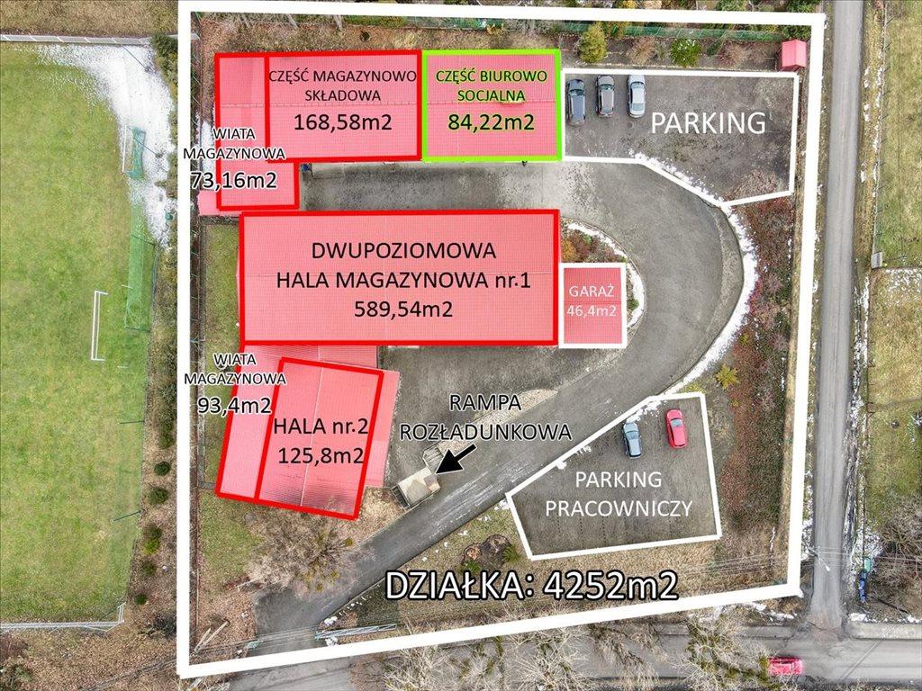 Lokal użytkowy na sprzedaż Iskrzyczyn, Dębowiec  1181m2 Foto 3
