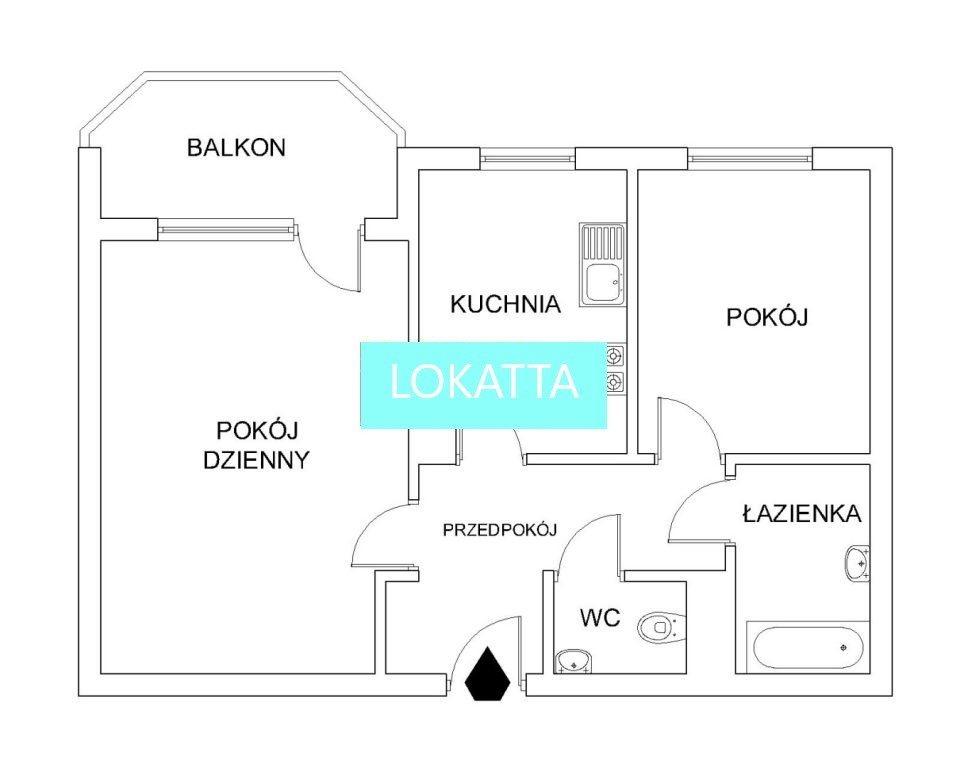 Mieszkanie dwupokojowe na sprzedaż Warszawa, Białołęka, Nowodwory, Odkryta  44m2 Foto 5