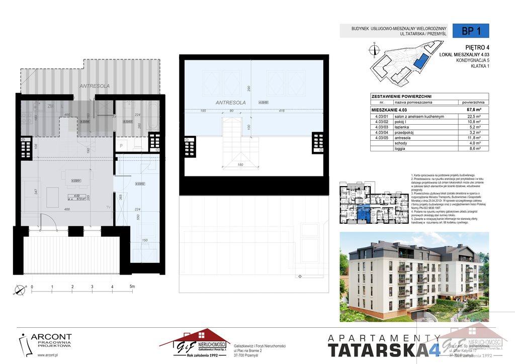 Mieszkanie trzypokojowe na sprzedaż Przemyśl, Tatarska  58m2 Foto 6