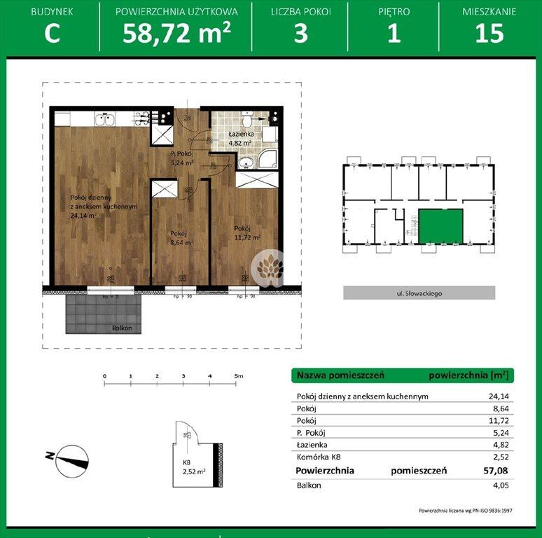 Mieszkanie trzypokojowe na sprzedaż Niemcz, Olszynki  59m2 Foto 10