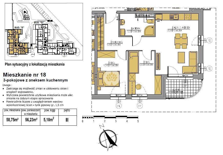 Mieszkanie trzypokojowe na sprzedaż Bydgoszcz, Bielawy, Jana Karola Chodkiewicza  59m2 Foto 5