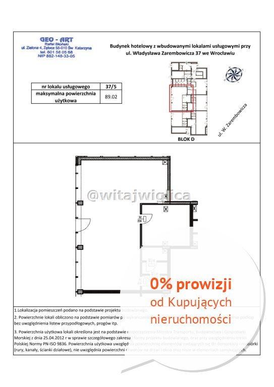 Lokal użytkowy na wynajem Wrocław, Fabryczna, Strachowice, Władysława Zarembowicza  89m2 Foto 9