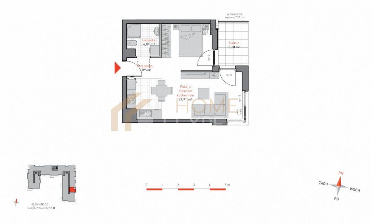 Mieszkanie dwupokojowe na sprzedaż Gdańsk, Siedlce, Jacka Malczewskiego  37m2 Foto 3