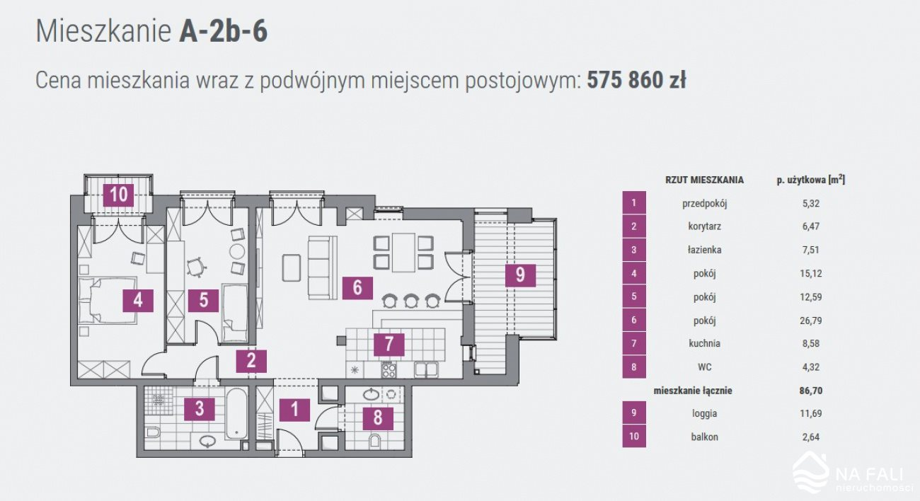 Mieszkanie trzypokojowe na sprzedaż Koszalin, Panorama  87m2 Foto 9